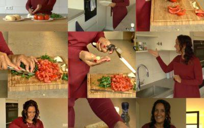 Vegetarisch gerecht Bruschetta, gezond, lekker en snel klaar!
